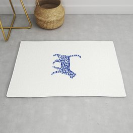 Blue camo cat Rug