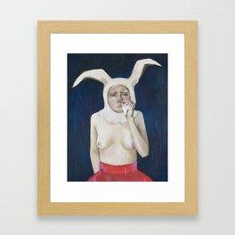 RabbitLady Framed Art Print