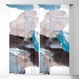abstract painting VIII Blackout Curtain
