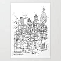 london Art Prints featuring London! by David Bushell
