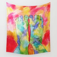 feet Wall Tapestries featuring Moldy Feet by aToby