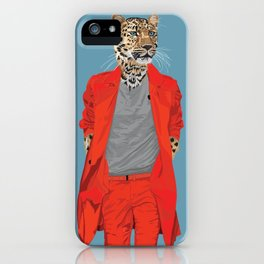 Leopard wearing Costume National iPhone Case