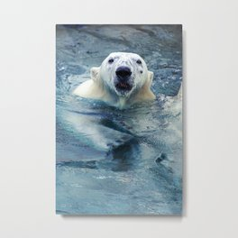Large polar bear Metal Print