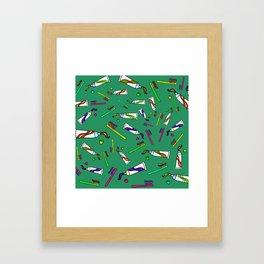 Brush Your Teeth Framed Art Print