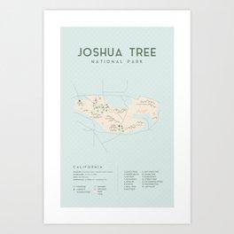 Joshua Tree Map Art Print