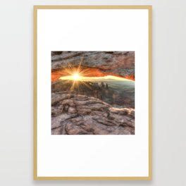 Mesa Arch Canyon Canyonlands Sunrise - Square Format Framed Art Print