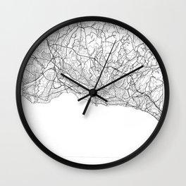 Lausanne Map White Wall Clock