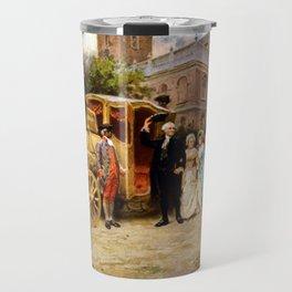George Washington Arriving At Christ Church Travel Mug