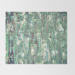 Abstract green Throw Blanket