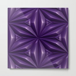 Engraved Surface Ultraviolet Metal Print