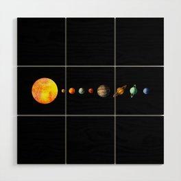 The Solar System Wood Wall Art