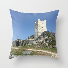 The Fortress Throw Pillow