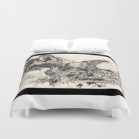 wolves Duvet Covers featuring Wolves by Maria Gabriela Arevalo Reggeti