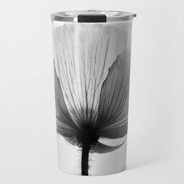 XRAY FLOWER [transparent black white poppy petals] Travel Mug