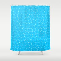 pool Shower Curtains featuring Pool by minemory