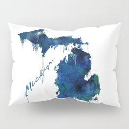 Michigan - wet paint Pillow Sham