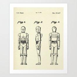 Robot C3PO-1979 Art Print