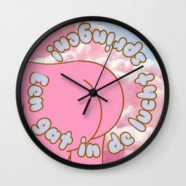 Een gat in de lucht springen. Wall Clock