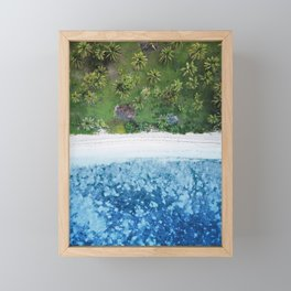 Tropical Fijian Beach | Aerial Framed Mini Art Print