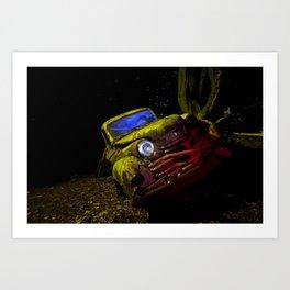 50's Opel Olympia Art Print