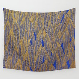 Golden Leaves Wall Tapestry