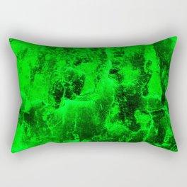 Green Abstract Tree Bark Rectangular Pillow
