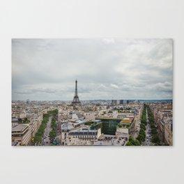 Romance city Canvas Print