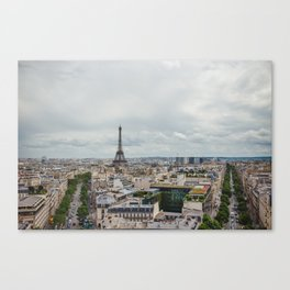 Romance city Canvas Print