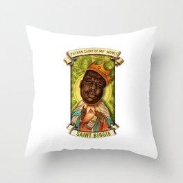 Saint Biggie! Throw Pillow