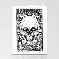 illuminati Stationery Cards featuring Illuminati by Tshirt-Factory