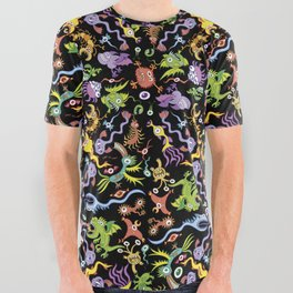 Terrific monsters posing for a colorful pattern design All Over Graphic Tee