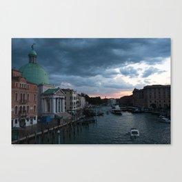 Dark clouds over Venice Canvas Print