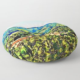 Brisighella: landscape with village Floor Pillow