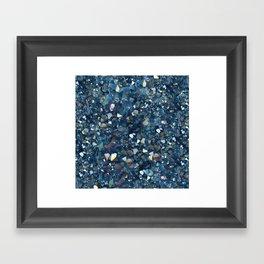 Aqua Blue Aurora Borealis Close-Up Crystal Framed Art Print