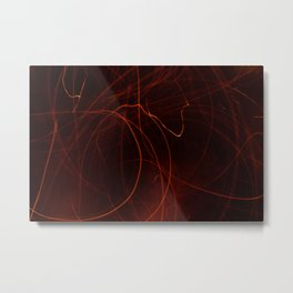 Embers Abstract  Metal Print