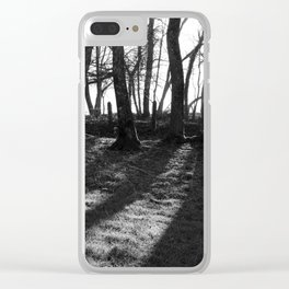 Railway Trees Clear iPhone Case