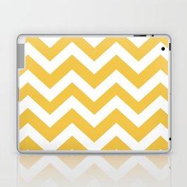 Maize (Crayola) - yellow color -  Zigzag Chevron Pattern Laptop & iPad Skin