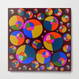 Bubble pink & blue 07 Metal Print