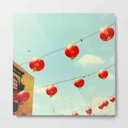 Lanterns III, Chinatown Metal Print