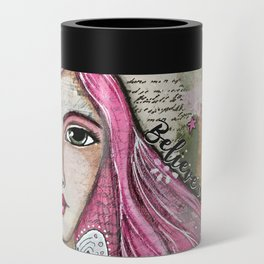 Believe in Your Own Magic Mixed Media Fairy Girl Can Cooler