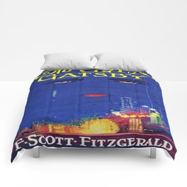 The Great Gatsby vintage book cover - Fitzgerald Comforters