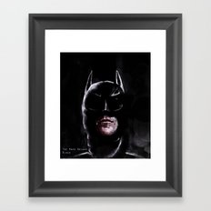 Gotham's Knight Framed Art Print