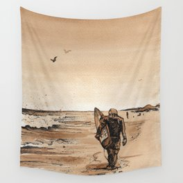 Coffee Art- Surf Wall Tapestry