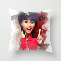 humor Throw Pillows featuring humor by thinKING