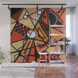 Geometric Composition Wall Mural