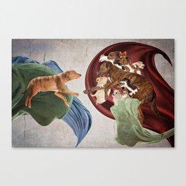 When God Created Dog Canvas Print