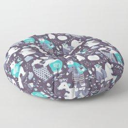 Arctic bear pajamas party Floor Pillow