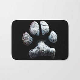Dog Paw Print Pop Art Animal Lovers - South Paw Bath Mat