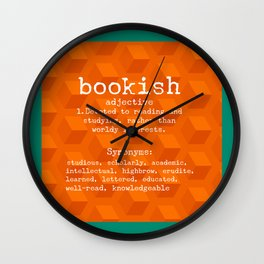 Bookish Wall Clock