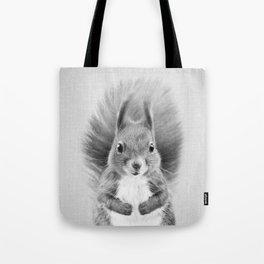 Squirrel 2 - Black & White Tote Bag